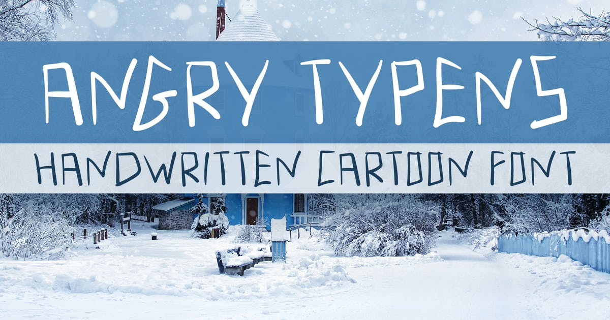 Angry Typens - Handwritten Font by Muse-Master