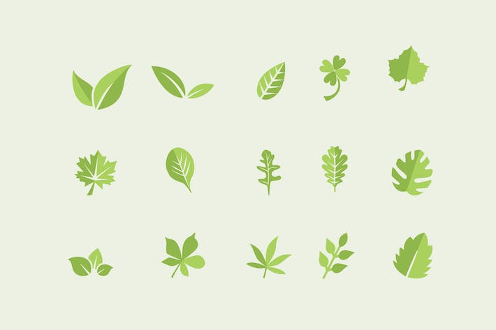 Thumbnail for 15 Leaf Icons