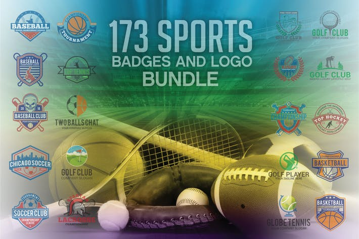 Thumbnail for 173 Sport-Badges und Logo Bundle
