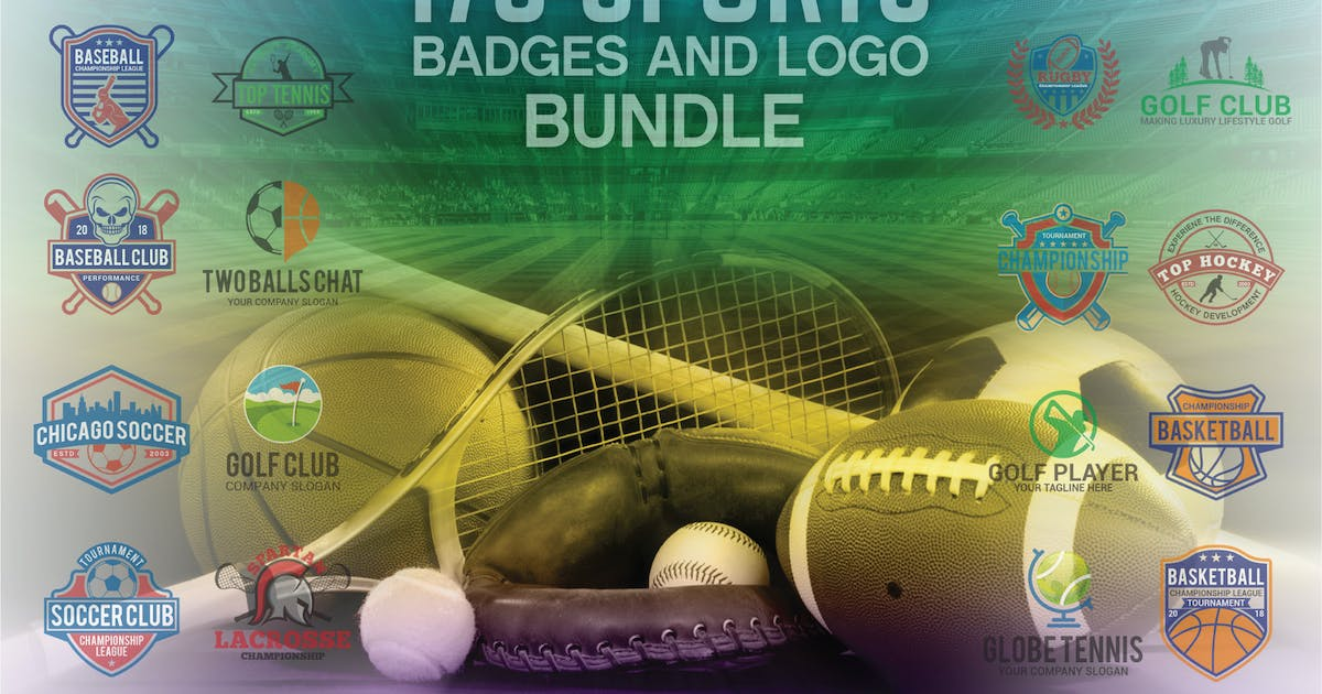 Download 173 Sports Badges and Logo Bundle by shazidesigns