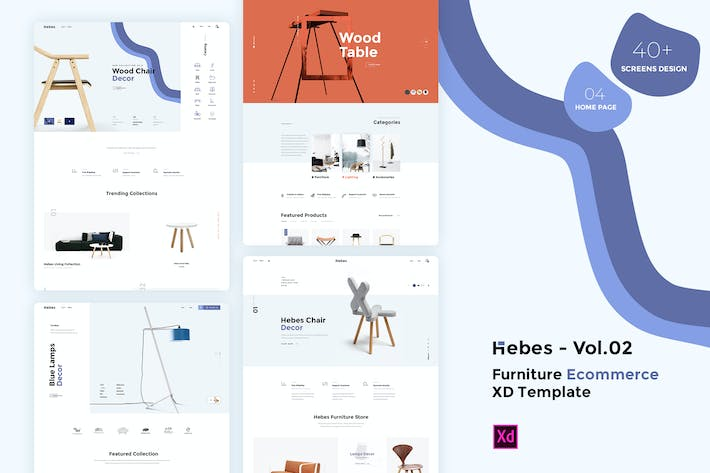 Thumbnail for HEBES Vol.02 - furniture Ecommerce XD Template