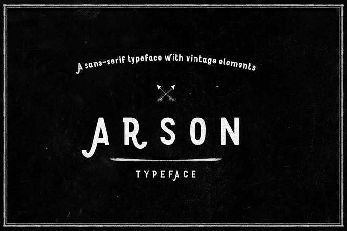 Thumbnail for Arson Typeface