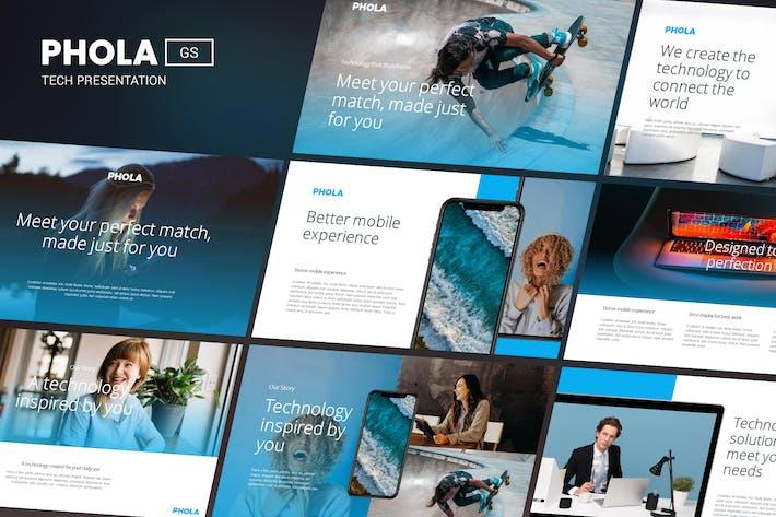 Thumbnail for PHOLA - Tech Presentation Google Slides