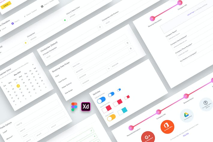 Thumbnail for Web Dashboard Forms UI Kit