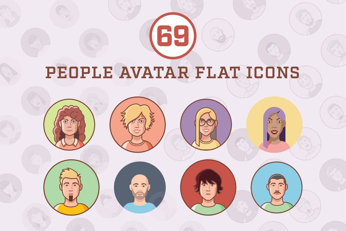 People Avatar Flat Icons