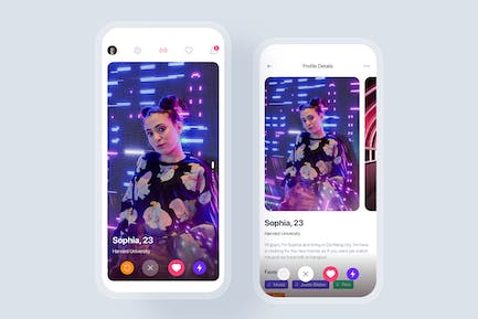 Dating mobile app UI concept