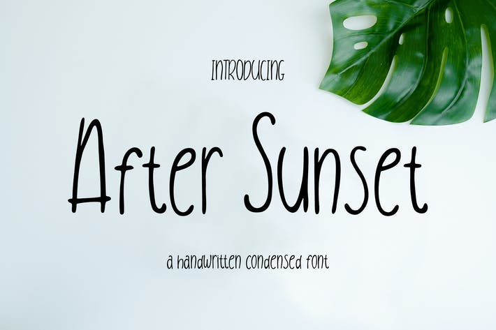 Thumbnail for After Sunset Handwritten Condensed