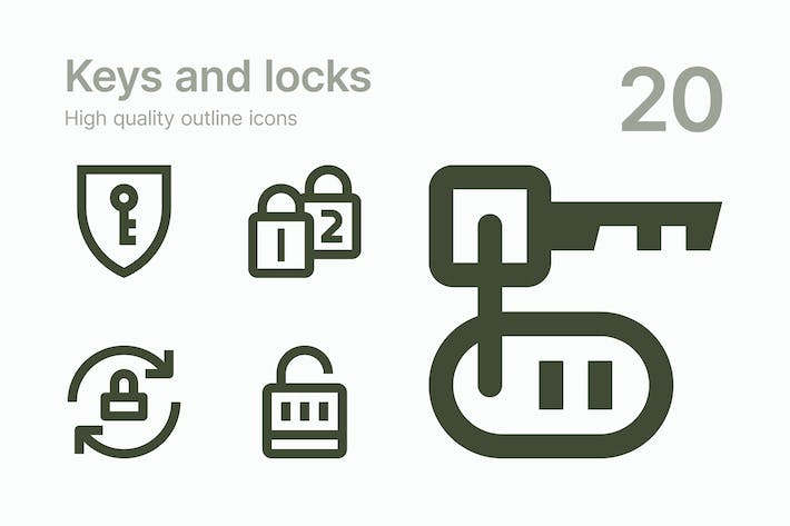 Thumbnail for Keys and Locks icons