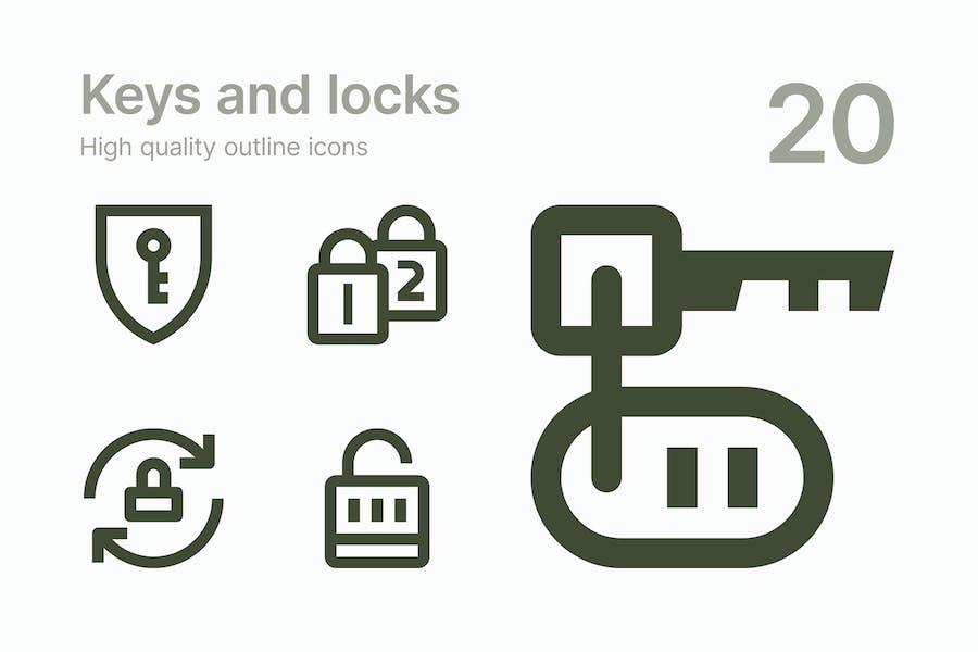 Keys and Locks icons
