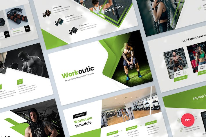 Fitness & Workout Presentation PowerPoint Template