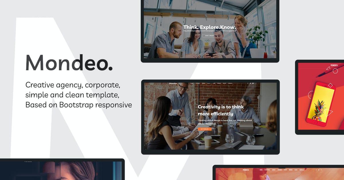 Download Mondeo - One Page Creative Marketing HTML Template by DesignsNinja