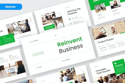 REINVENT - Business Pitch Deck Keynote