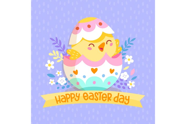 Thumbnail for Happy Easter Day Chick Egg