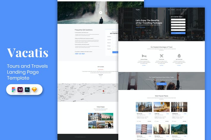 Thumbnail for Tours & Travels - Landing Page Template