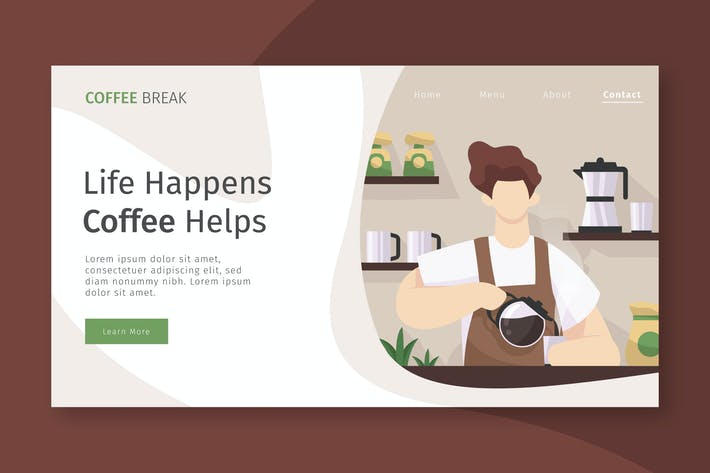 Thumbnail for Coffee Cafe - Landing Page