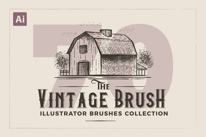 Thumbnail for Illustrator Vintage Engraving Brushes