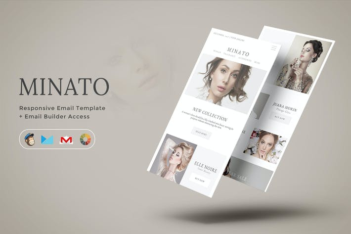 Thumbnail for Minato - Fashion Email Template + Builder Access