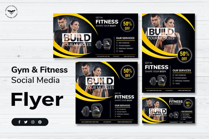 Thumbnail for Gym Social Media Template