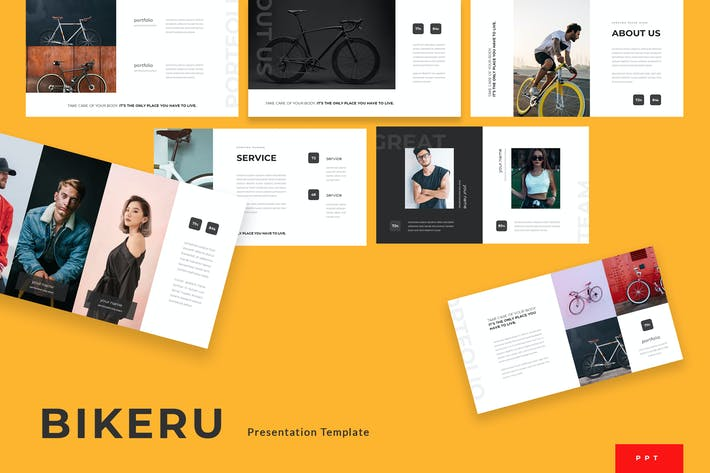 Thumbnail for Bikeru - Cycling Powerpoint Presentation Template
