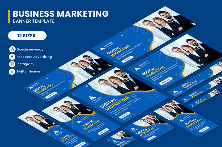Thumbnail for Business Marketing Google Adwords Banner Template