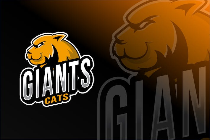 Cover Image For Giant Cats Esport Logo Template