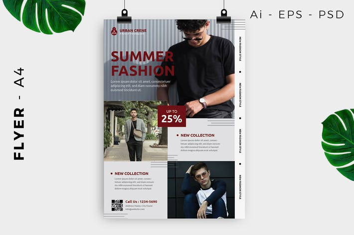 Man Fashion Flyer Design
