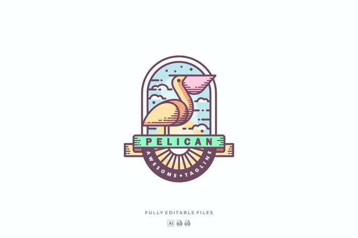Thumbnail for Pelican Color Badge Logo