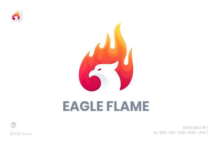Thumbnail for Eagle Flames logo template