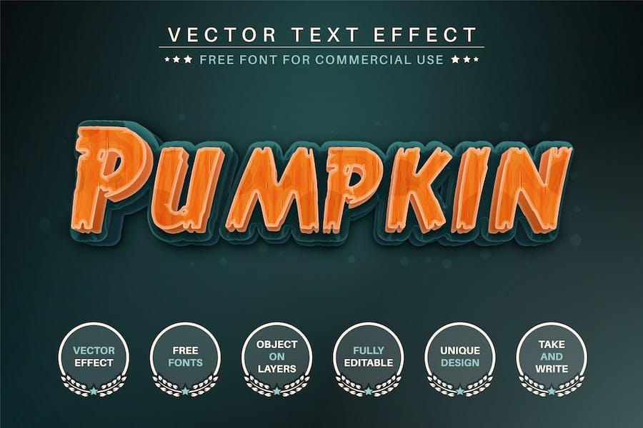 Halloween Pumpkin -  Editable Text Effect