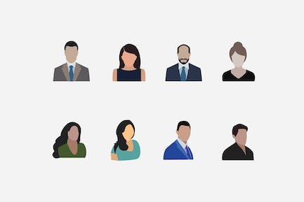8 Business Avatar Icons