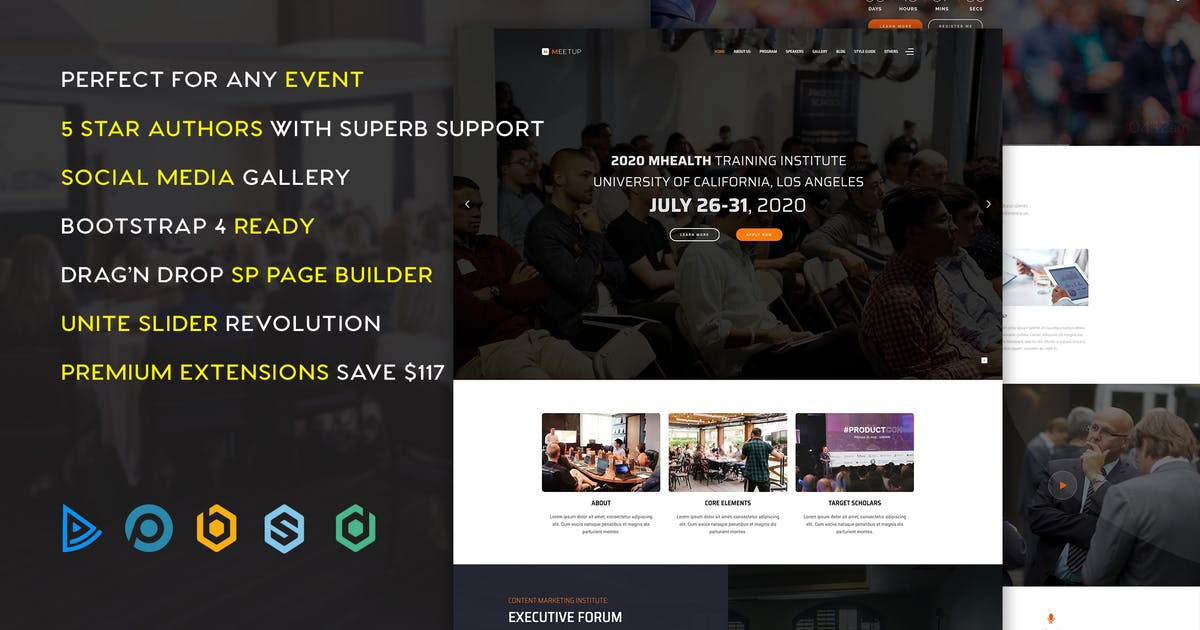 Download Meetup Conference Event Joomla Template by templaza