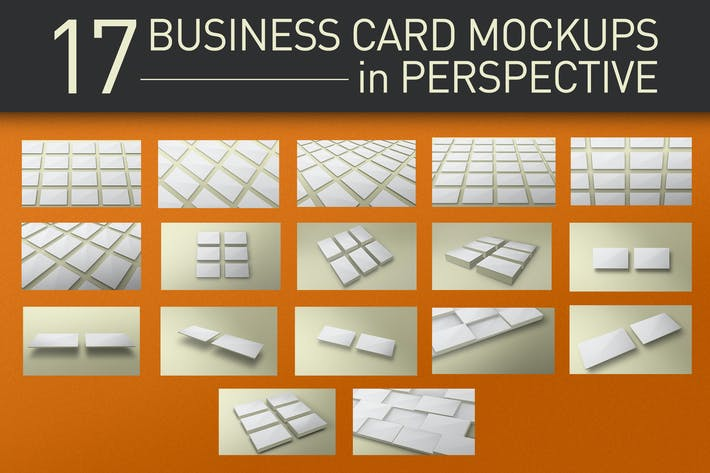Thumbnail for Perspective Business Card Mockups