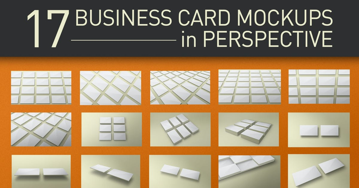 Download Perspective Business Card Mockups by KlapauciusCo