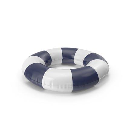 Pool-Röhren mit dunkelblauem gestreiften Druck