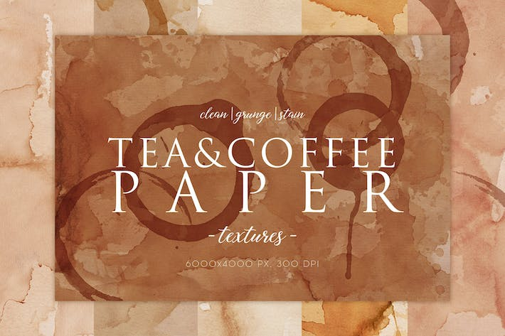 Thumbnail for 15 Coffee Stain Paper Textures 2