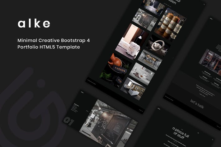 Thumbnail for Alke - Minimal Creative Portfolio Template