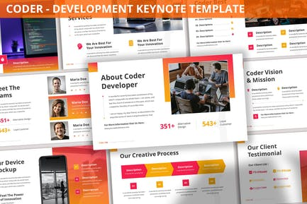 Coder - Development Keynote Template