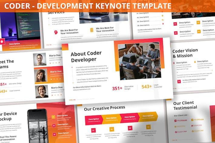 Thumbnail for Coder - Development Keynote Template