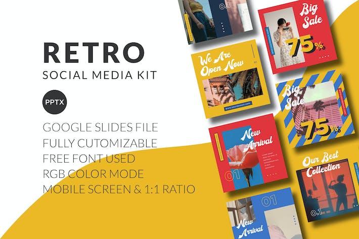 Retro Social Media Kit - Google Slides