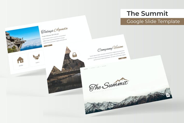 Thumbnail for The Summit - Google Slide Template
