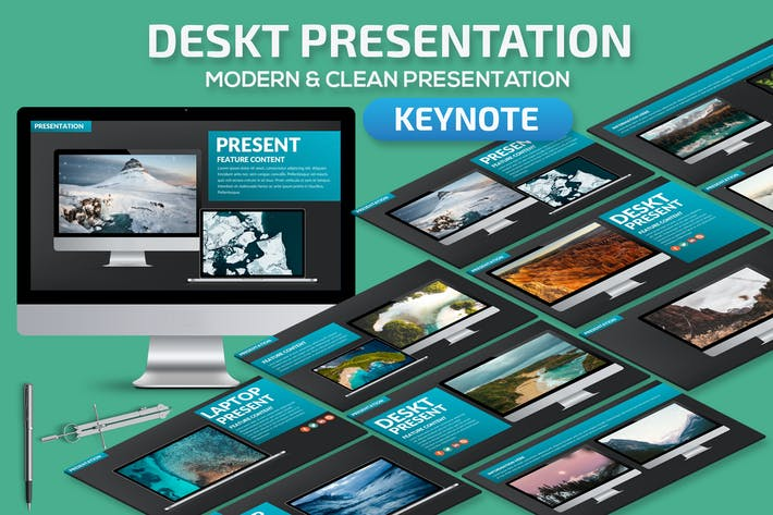 Thumbnail for Deskt Keynote Presentation Template