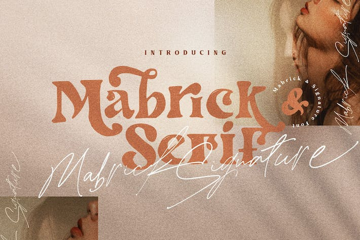 Thumbnail for Mabrick - Logotype Fashion serif rough