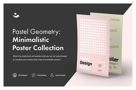 Pastel Geometry: Minimalistic Poster