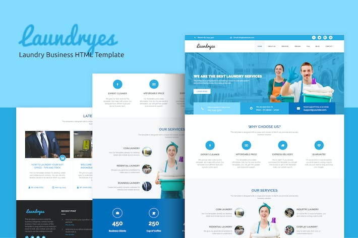 Thumbnail for Laundryes - Laundry Business HTML Template