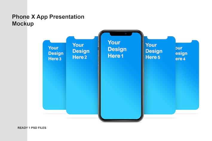 Thumbnail for Phone x - Bildschirmpräsentation Mockup