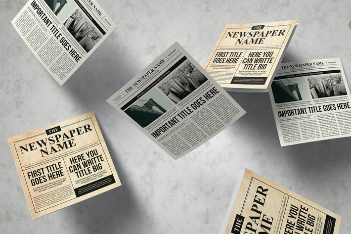 Thumbnail for Newspaper Trifold Brochure