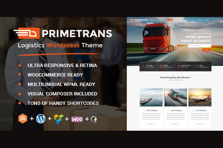 Thumbnail for PrimeTrans | Logistics HTML Template