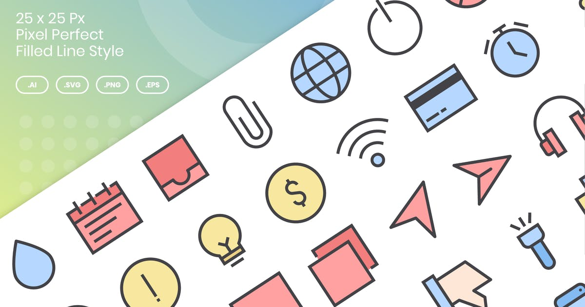 Download 50 Interface Essential Icons Vol 2 - Filled Line by kmgdesignid