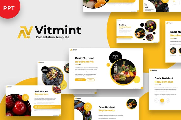 Thumbnail for Vitmint - Food Powerpoint Template