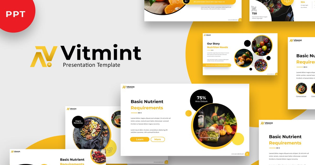 Download Vitmint - Food Powerpoint Template by jegtheme